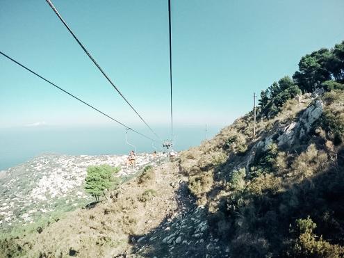 Monte Solaro chair lift - great fun!